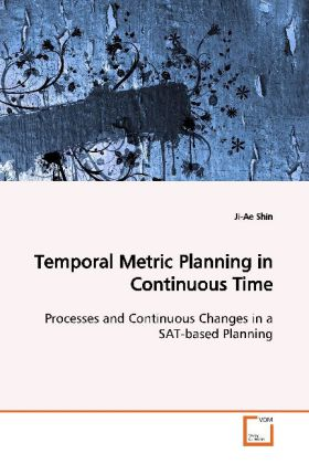 Temporal Metric Planning in Continuous Time - Processes and Continuous Changes in a SAT-based  Planning