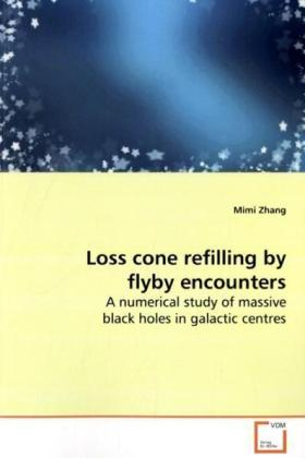 Loss cone refilling by flyby encounters - A numerical study of massive black holes in galactic centres - Zhang, Mimi