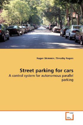 Street parking for cars als Buch von Rogan Shimmin - Rogan Shimmin
