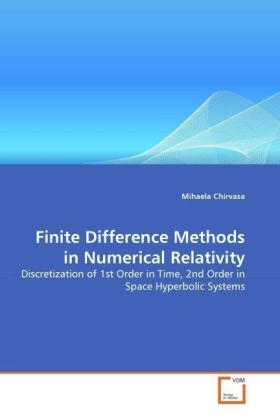 Finite Difference Methods in Numerical Relativity - Discretization of 1st Order in Time, 2nd Order in Space Hyperbolic Systems