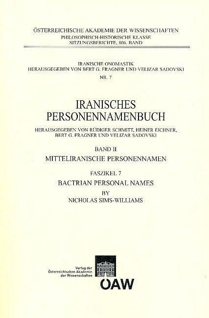 Bactrian Personal Names als eBook Download von Nicholas Sims-Williams - Nicholas Sims-Williams