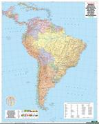 Südamerika physisch-politisch 1 : 8 000 000. Plano