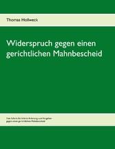 Widerspruch gegen einen gerichtlichen Mahnbescheid - Thomas Hollweck