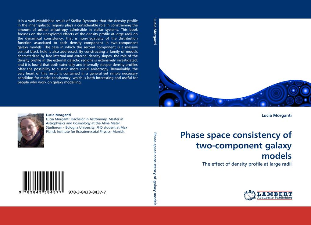 Phase space consistency of two-component galaxy models als Buch von Lucia Morganti - Lucia Morganti