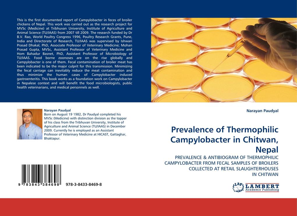 Prevalence of Thermophilic Campylobacter in Chitwan, Nepal als Buch von Narayan Paudyal - LAP Lambert Acad. Publ.