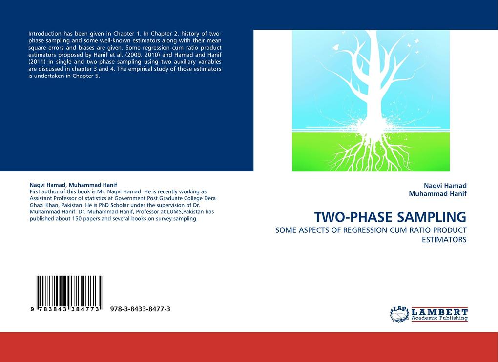 TWO-PHASE SAMPLING als Buch von Naqvi Hamad, Muhammad Hanif - LAP Lambert Acad. Publ.