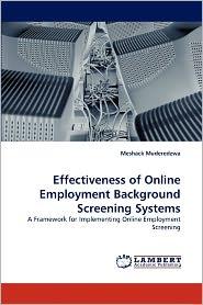 Effectiveness Of Online Employment Background Screening Systems - Meshack Muderedzwa