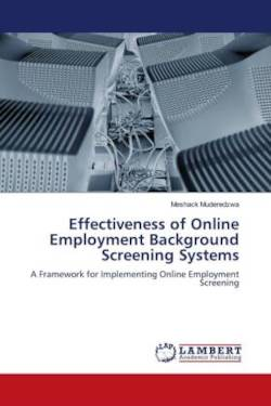 Effectiveness of Online Employment Background Screening Systems