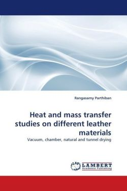 Heat and mass transfer studies on different leather materials