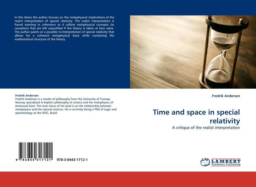 Time and space in special relativity als Buch von Fredrik Andersen - LAP Lambert Acad. Publ.