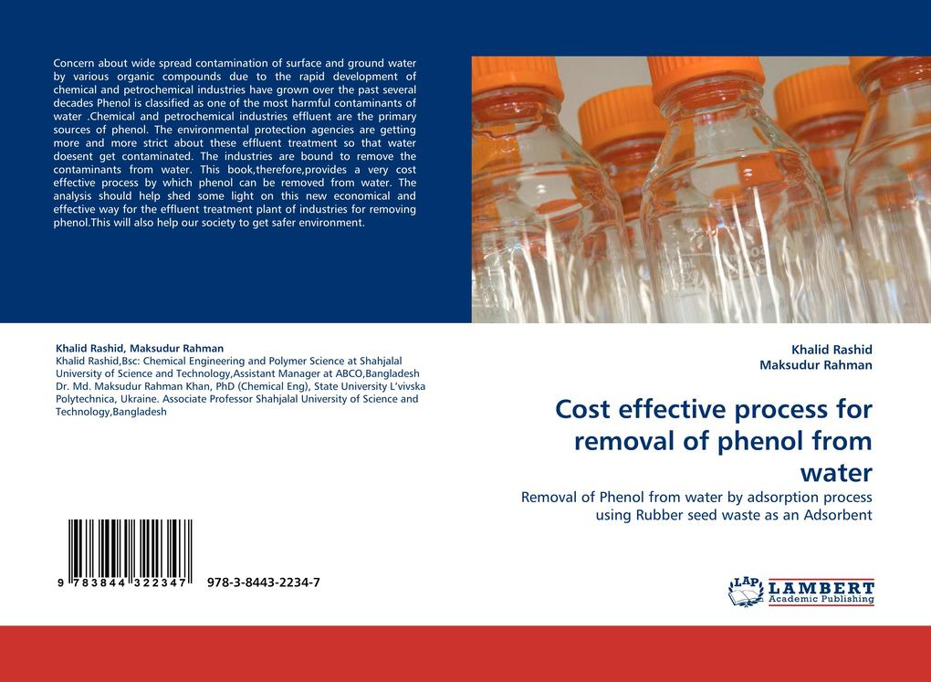Cost effective process for removal of phenol from water als Buch von Khalid Rashid, Maksudur Rahman - Khalid Rashid, Maksudur Rahman