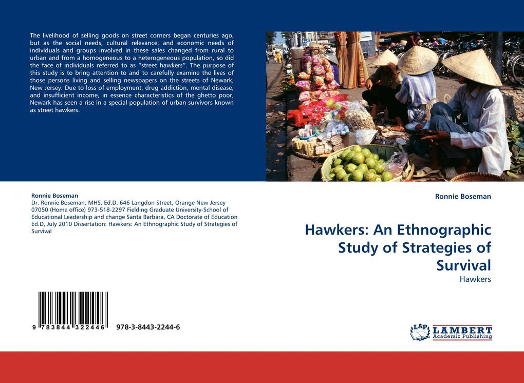 Hawkers: An Ethnographic Study of Strategies of Survival als Buch von Ronnie Boseman - LAP Lambert Acad. Publ.