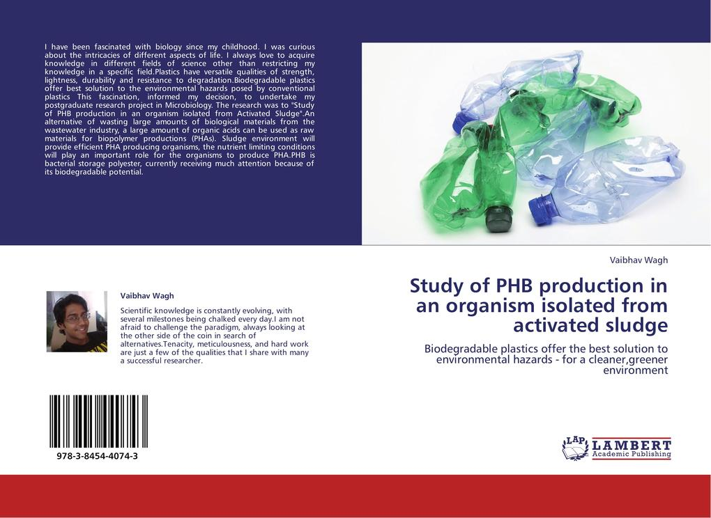 Study of PHB production in an organism isolated from activated sludge als Buch von Vaibhav Wagh - Vaibhav Wagh