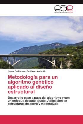 Metodología para un algoritmo genético aplicado al diseño estructural - Desarrollo paso a paso del algoritmo y con un enfoque de auto-ajuste. Aplicación en estructuras de acero y madera(3d).