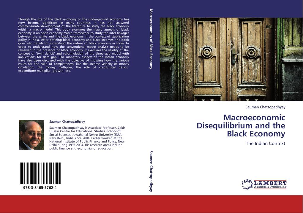 Macroeconomic Disequilibrium and the Black Economy als Buch von Saumen Chattopadhyay - LAP Lambert Academic Publishing