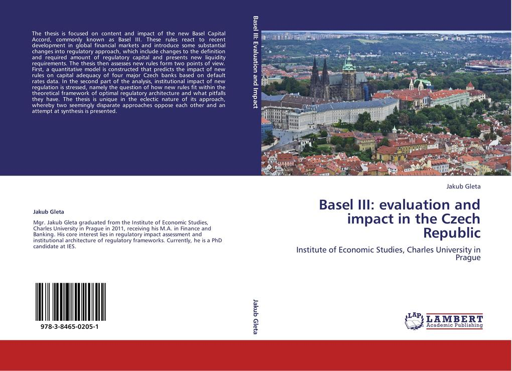 Basel III: evaluation and impact in the Czech Republic als Buch von Jakub Gleta - LAP Lambert Acad. Publ.