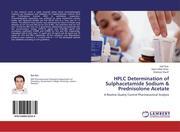 Ejaz, Ejaz;Khan, Islam Ullah;Sharif, Shahzad: HPLC Determination of Sulphacetamide Sodium & Prednisolone Acetate