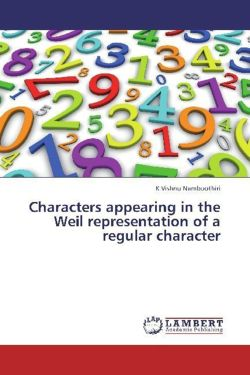 Characters appearing in the Weil representation of a regular character