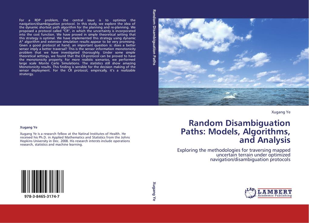 Random Disambiguation Paths: Models, Algorithms, and Analysis als Buch von Xugang Ye - LAP Lambert Academic Publishing