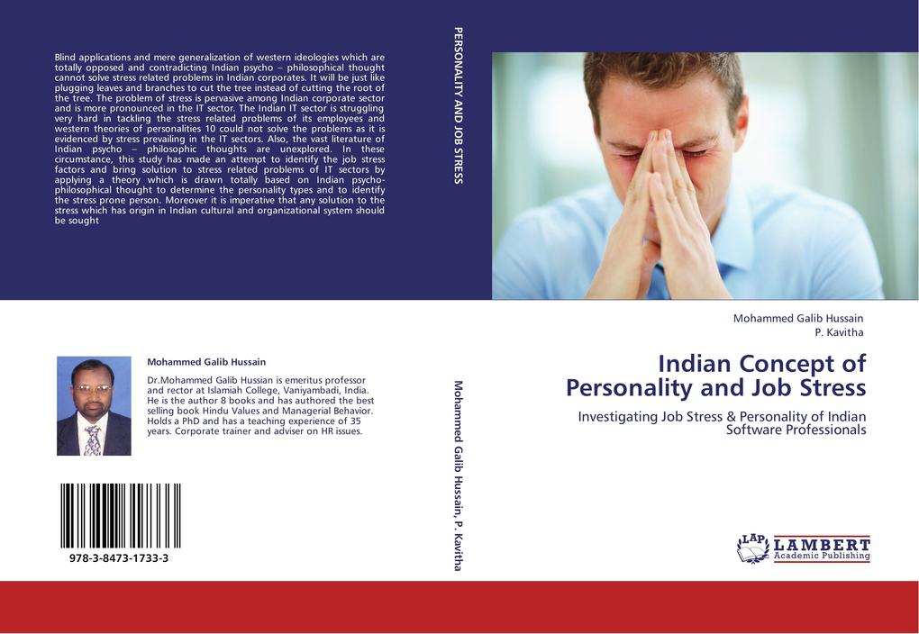 Indian Concept of Personality and Job Stress als Buch von Mohammed Galib Hussain, P. Kavitha - LAP Lambert Academic Publishing