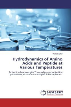 Hydrodynamics of Amino Acids and Peptide at Various Temperatures