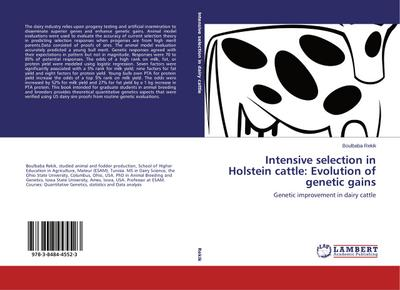 Intensive selection in Holstein cattle: Evolution of genetic gains - Boulbaba Rekik