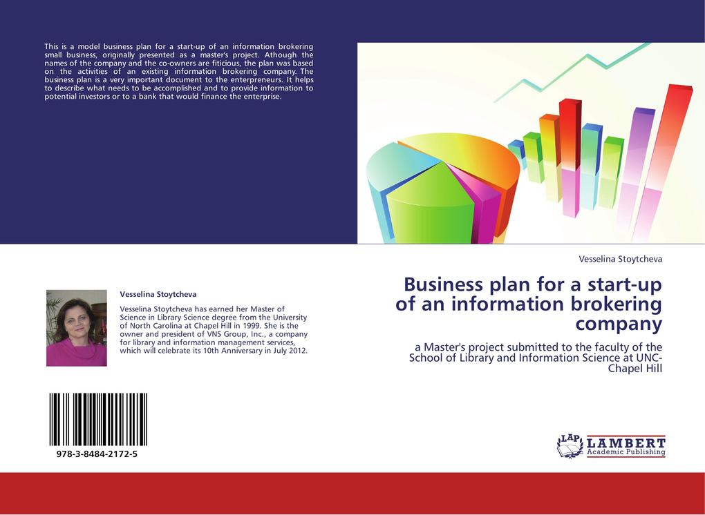 Business plan for a start-up of an information brokering company als Buch von Vesselina Stoytcheva - LAP Lambert Academic Publishing