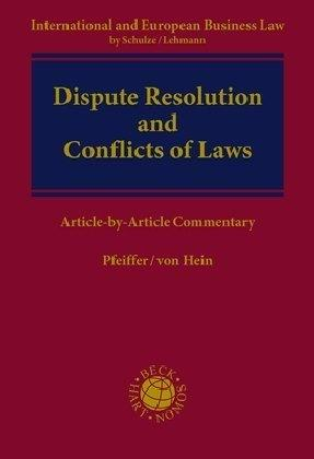 Dispute Resolution and Conflict of Laws