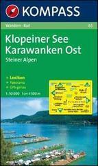 Carta escursionistica n. 65. Austria. Carinzia. Klopeiner See, Karawanken Ost 1:50.000. Con carta panoramica. Adatto a GPS. DVD-ROM digital map