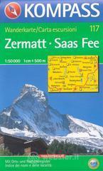 Carta escursionistica n. 117. Svizzera, Alpi occidentale. Zermatt, Saas Fee 1:50.000. Adatto a GPS. DVD-ROM. Digital map