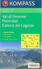 Carta escursionistica n. 618. Trentino, Veneto. Val di Fiemme, Catena di Lagorai 1:25000. Adatto a GPS. DVD-ROM. Digital map