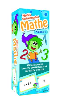 Karteibox Mathe Klasse 1 - mit 400 farbigen Karteikarten und tollen Stickern