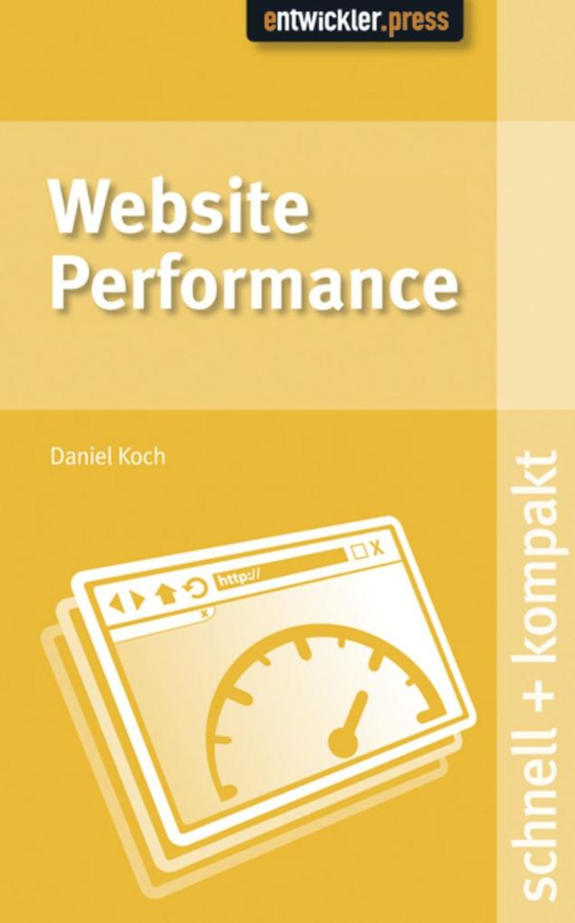 Website Performance als eBook von Daniel Koch - entwickler.press