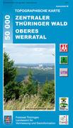 ZENTRALTHÜRINGEN mit Erfurt, Gotha, Arnstadt und Umgebung 1: 50 000