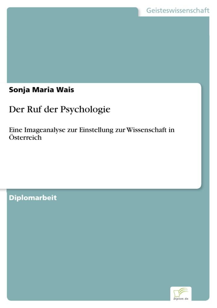 Der Ruf der Psychologie als eBook Download von Sonja Maria Wais - Sonja Maria Wais
