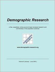 Demographic Research, Volume 8 - Max-Planck-Institute f r demograf. Fors (Editor)