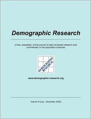 Demographic Research, Volume 9 - Max-Planck-Institute f r demograf. Fors (Editor)