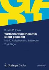 Wirtschaftsmathematik leicht gemacht - Susan Pulham