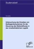 Bahlo, Tim: Untersuchung des Einsatzes von Multiagentensystemen für die Steuerung des Materialflusses in der innerbetrieblichen Logistik
