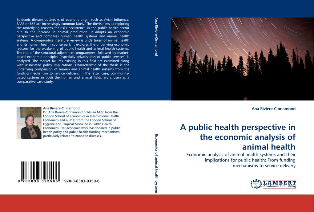 A public health perspective in the economic analysis of animal health als Buch von Ana Riviere-Cinnamond - LAP Lambert Acad. Publ.
