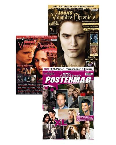 Icons Vampire Chronicle, limitiertes Bundle (3 Ausgaben): Postermag 2 + Twilight: New Moon + Twilight: Breaking Dawn