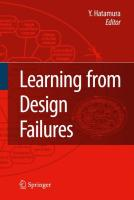 Learning from Design Failures