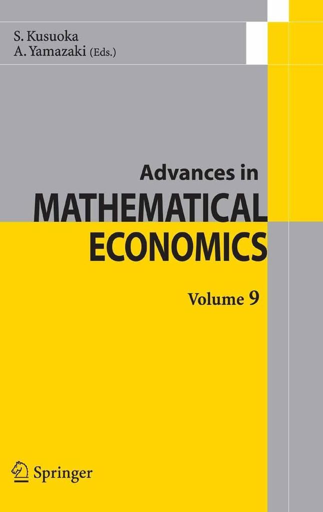 Advances in Mathematical Economics Volume 9 als eBook Download von N.N - N.N