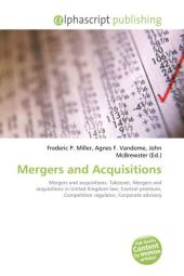 Mergers and Acquisitions - Frederic P. Miller