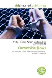 Conversion (Law) - Frederic P. Miller