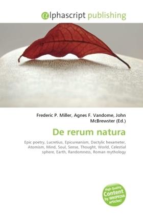 De rerum natura - Miller, Frederic P. (Hrsg.) / Vandome, Agnes F. (Hrsg.) / McBrewster, John (Hrsg.)