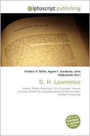 D.H. Lawrence - Frederic P. Miller, Agnes F. Vandome, John McBrewster
