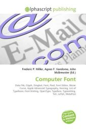 Computer Font - Frederic P. Miller