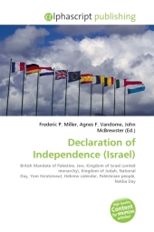 Declaration of Independence (Israel) - Frederic P. Miller