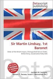 Sir Martin Lindsay, 1st Baronet